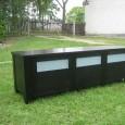 TV-bänk i massiv ek, brun